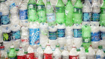 Image: Dozens of plastic bottles