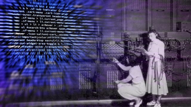 Image: Vintage photo of women programming ENIAC, one of the first programmable computers