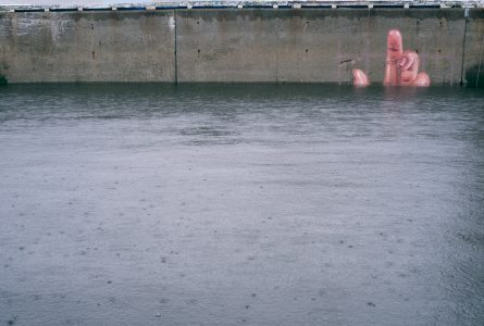 Image: Huna mural with the high tide fully in