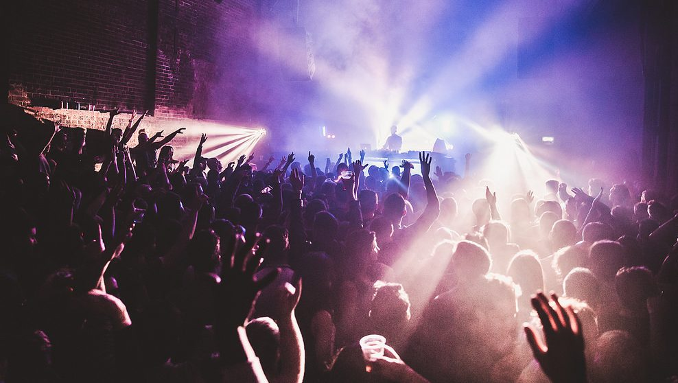 Image: A concert with people cheering