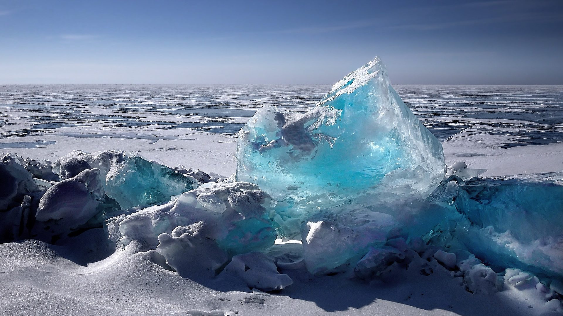 Image: Blue Arctic Ice, showing what it looks like in the North Pole.