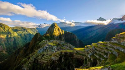 Image: Sun shining on Machu Picchu