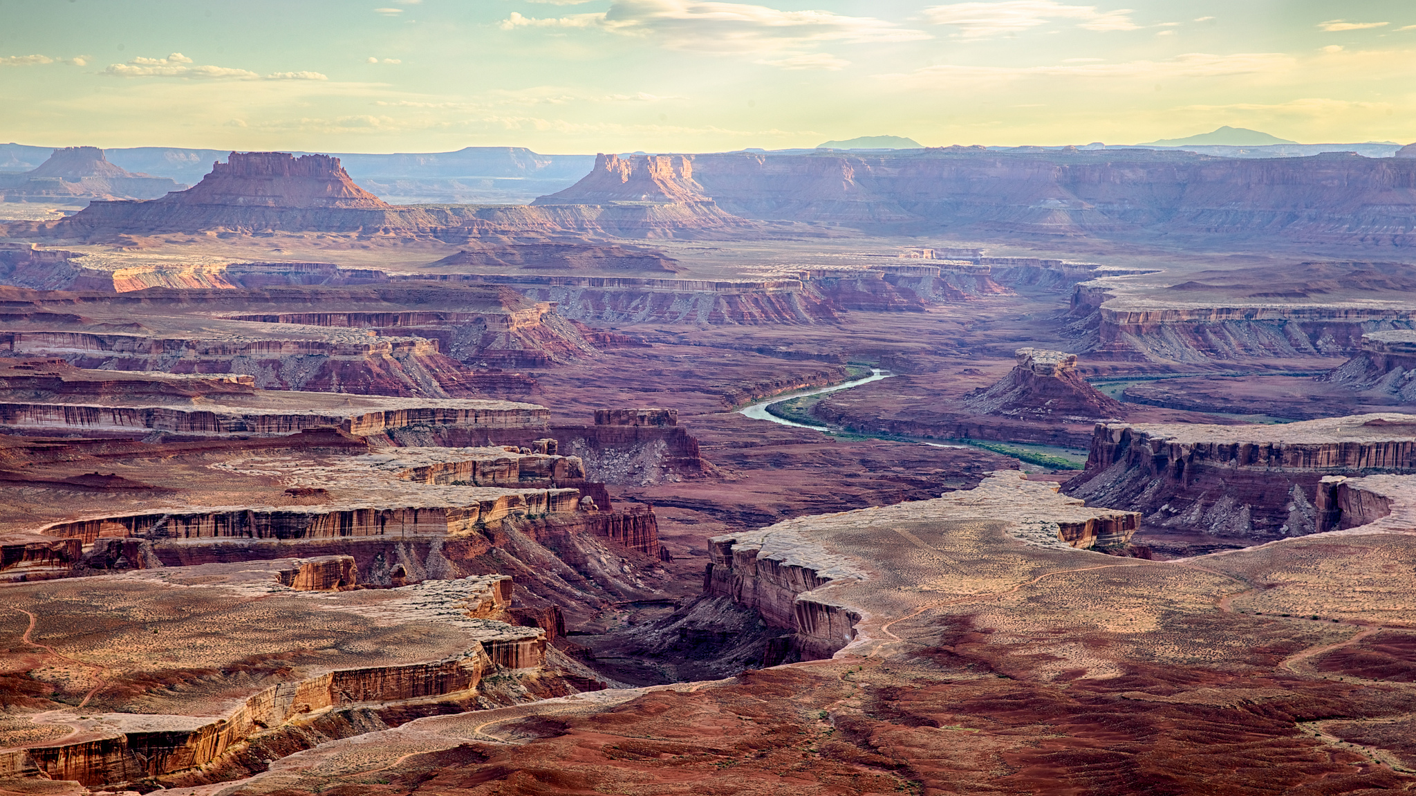 Image: Aerial view of the expansive Canyonland National Park that's preserved native history for every new generation