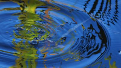 Image: New innovations are like the ripples on a pond: their effect radiating endlessly.
