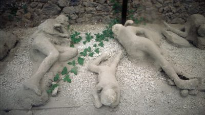 Image: Plaster casts of 2000 year old victims from the eruption of Mt. Vesuvius