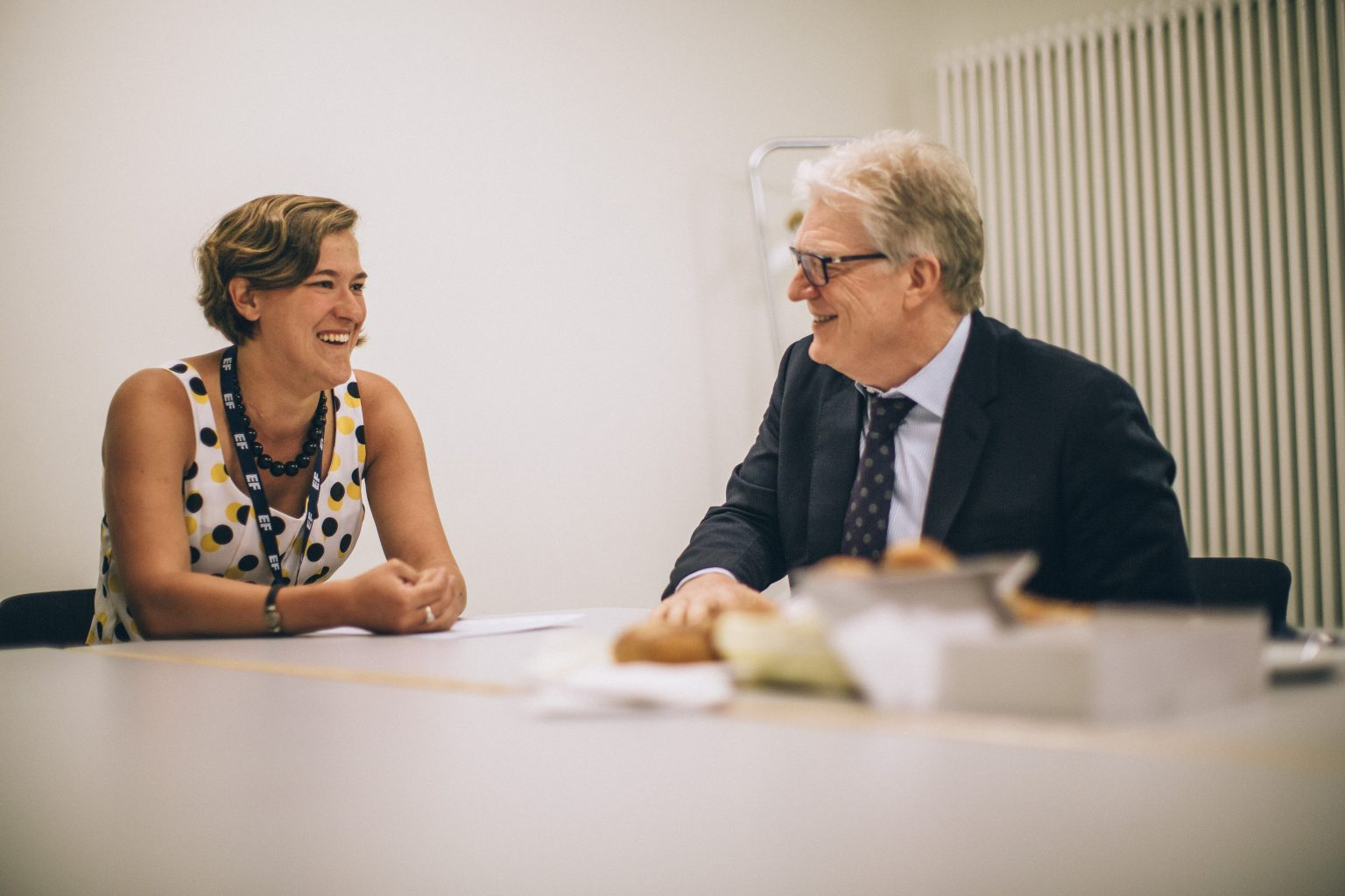 Image: Louisa with her hero, Sir Ken Robinson