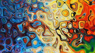 Image: Abstract blobs of color