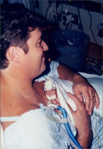 Image: Chuck holding Louisa