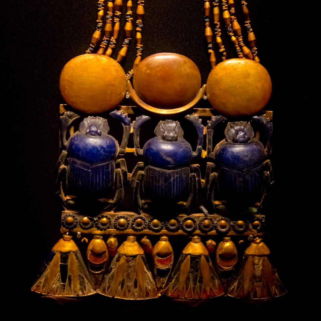 Image: Scarab beetles on jewelry from the tomb of King Tut