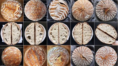Image: loaves of artisan sourdough bread