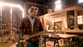 Image: Blue Ox Millworks founder Eric Hollenbeck in his wood shop