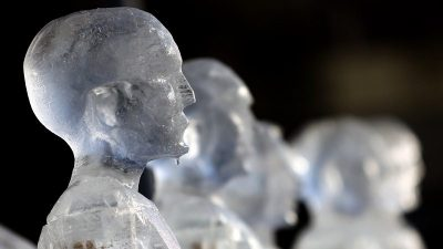 Image: Human forms created out of ice
