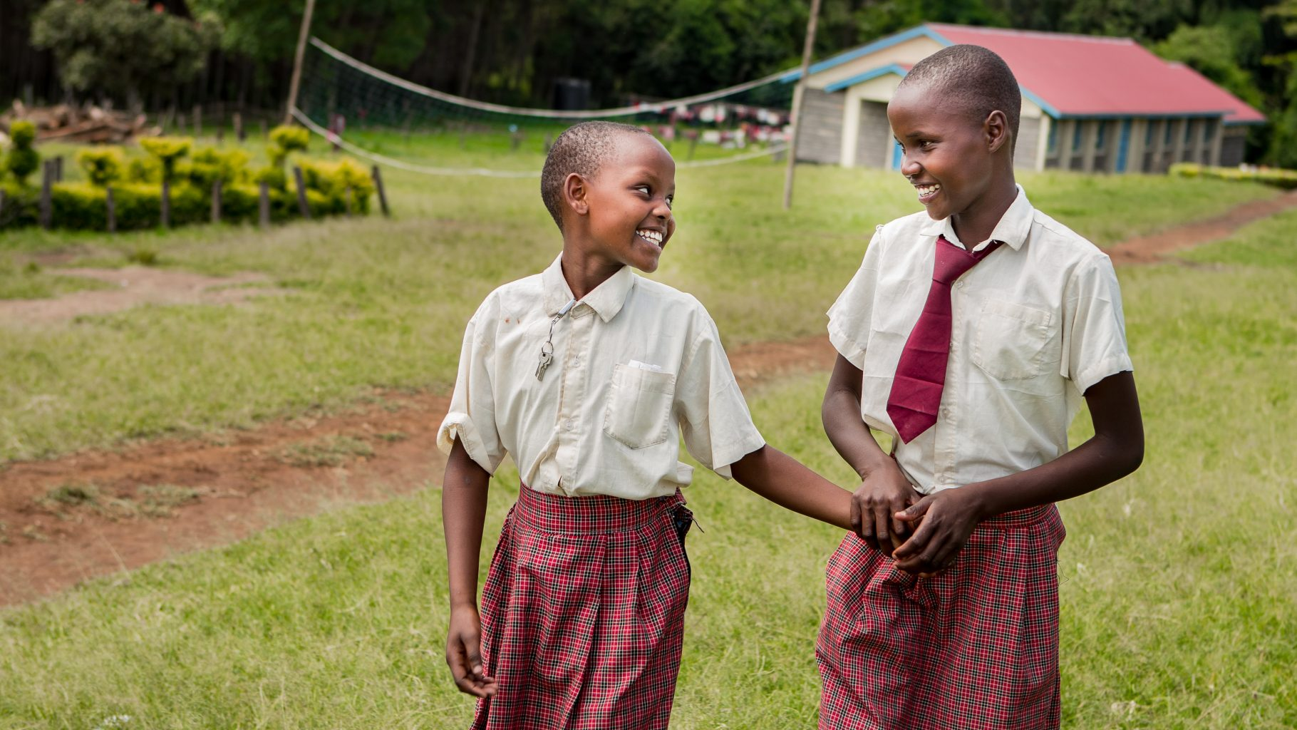 Image: Two smiling students from Kakenya's Center for Excellence!