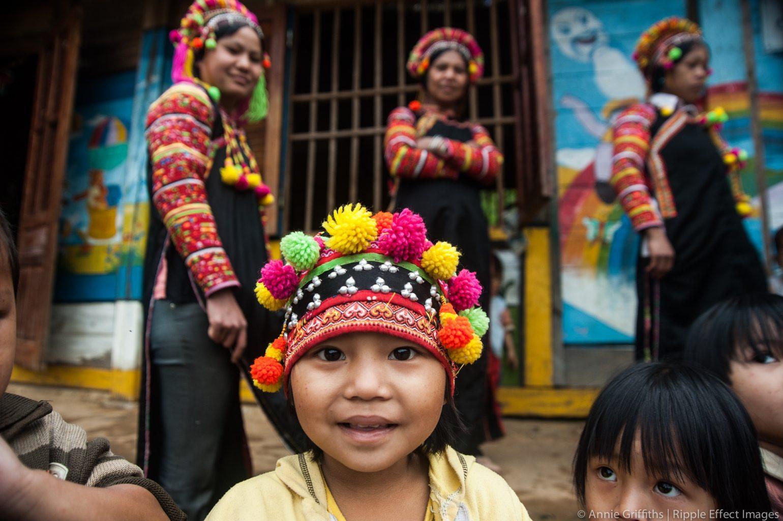 Image: Young girl smiling at camera