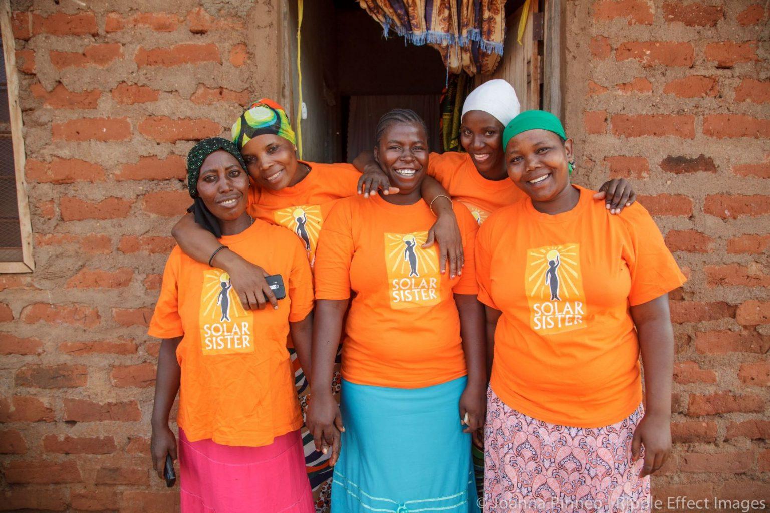 Image: 5 Solar Sister entrepreneurs together!