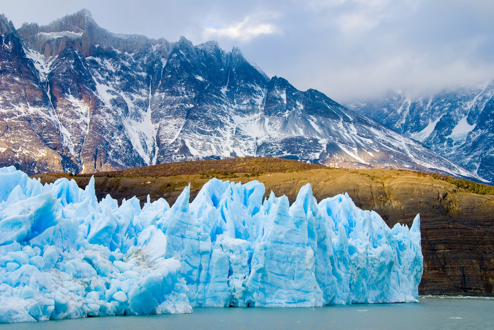 Image: Image from Patagonia of glaciers, water, planes and mountains
