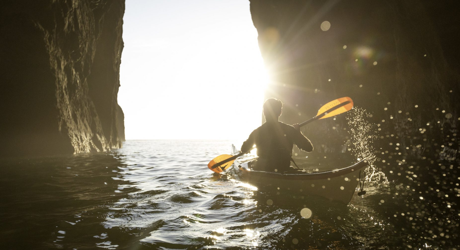 Image: Person kayaking
