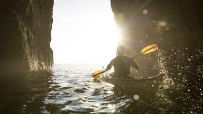 Image: Person kayaking