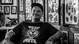 Image: Billy White, Owner of Red Rose Tattoo