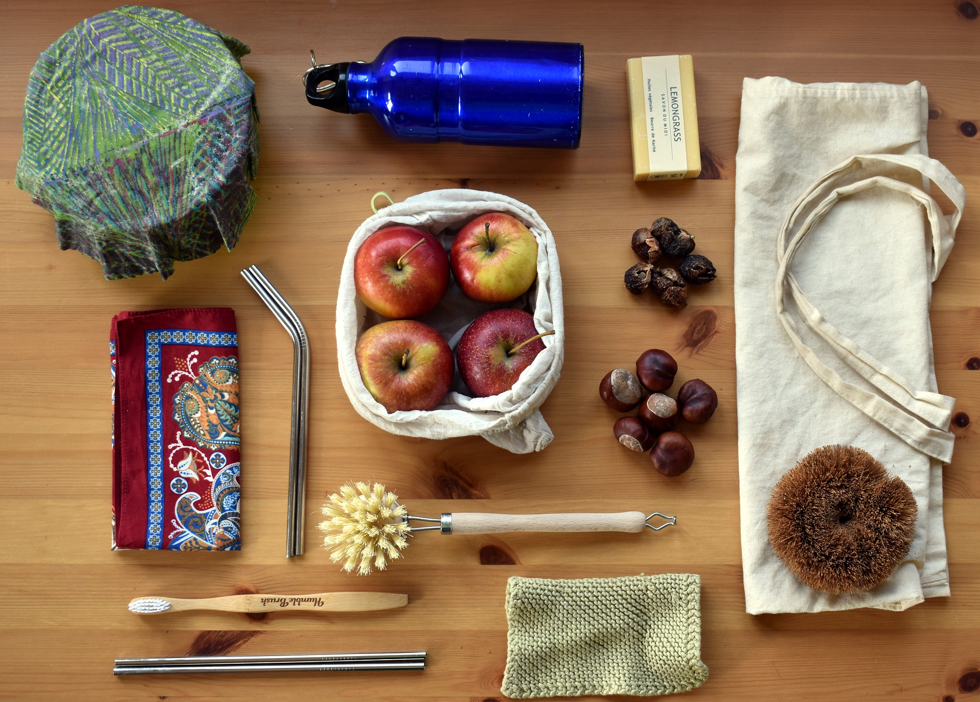 Image: reusable items to help a person live a more zero waste lifestyle