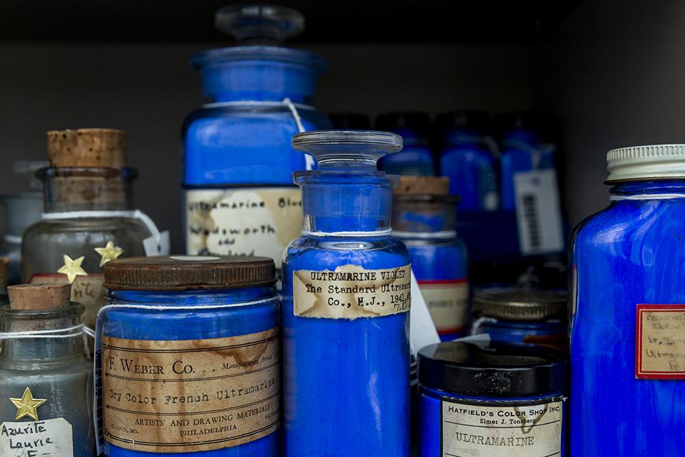 Image: Jars of Blue Pigments