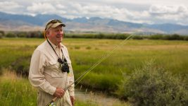 Image: Ed, the founder of Healing Waters, all ready to go fly fishing.
