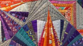 Image: details of a quilt by Keiko Ohno