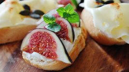 Image: figs on cheese and bread!