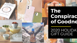 Image: 2020 Conspiracy of goodness holiday gift guide promo