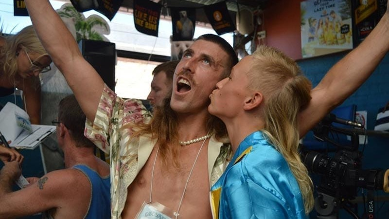 Image: Two mullet-wearers rejoicing