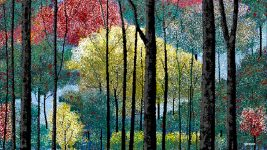 Image: One of Hal's paintings: fall foliage