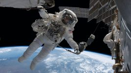 Image: Astronaut on a spacewalk outside of the international space station (ISS)