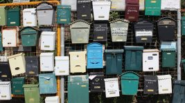 Image: a collection of various mailboxes