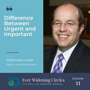 Image: Rabbi Daniel Cohen Urgent and Important Ever Widening Circles Podcast