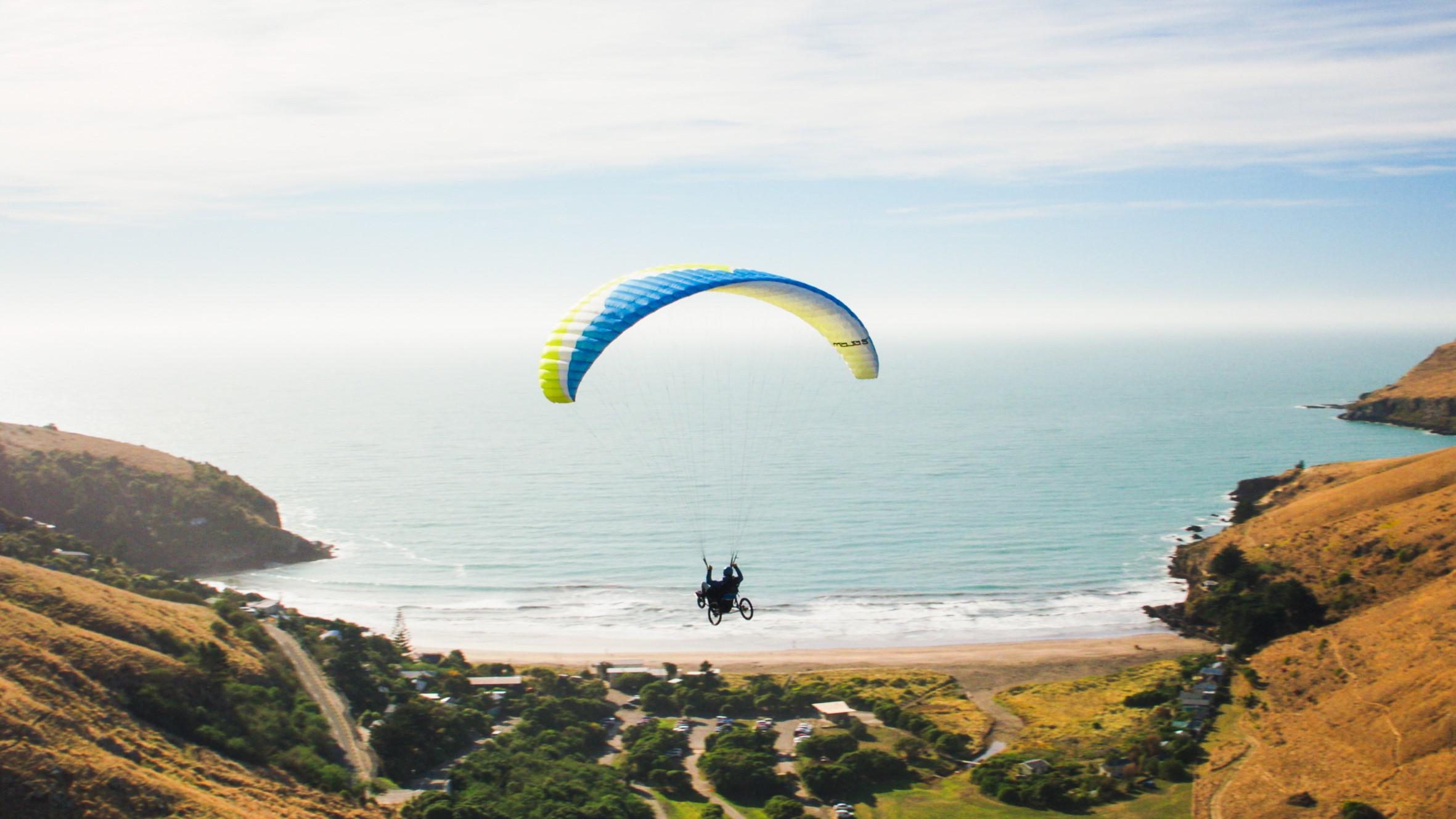 Image: Jezza Williams paragliding!