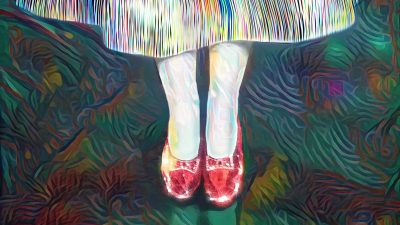 Image: Dorothy's Ruby Slippers in Vibrant Color