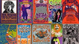 Image: various 60s band posters