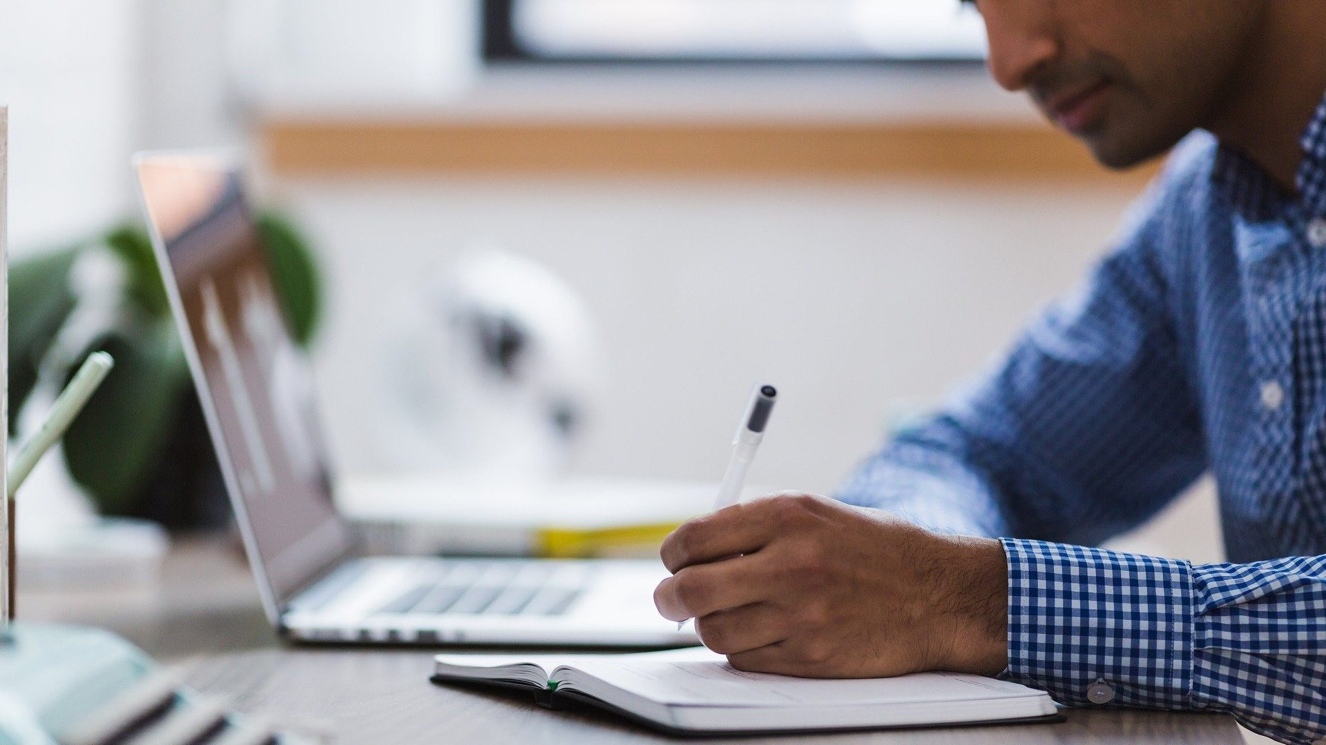 Image: man working at computer