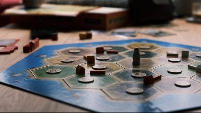 Image: A Settlers of Catan Game Board